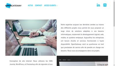 Site internet de Opengateway