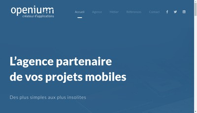 Site internet de Openium