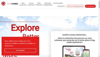 Site internet de Openrunner
