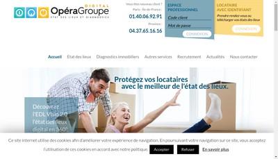 Site internet de Opera Groupe