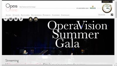 Site internet de Opera Online