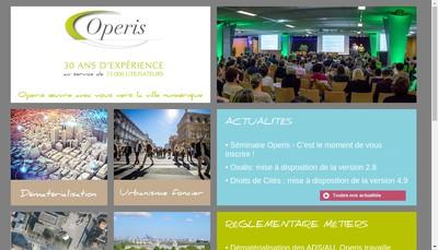 Site internet de Operis