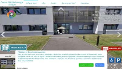 Site internet de Centre d'Ophtalmologie Actisud