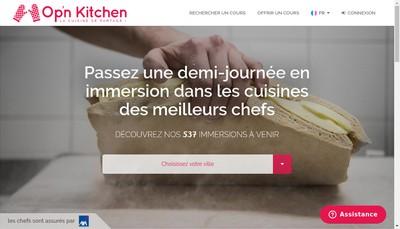 Site internet de Opnkitchen