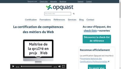 Site internet de Opquast SAS
