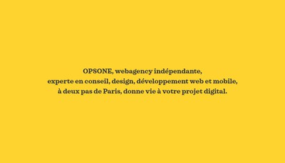 Site internet de Opsone