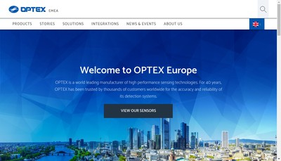 Site internet de Optex Security SAS