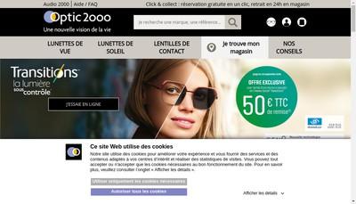 Site internet de Optic 2000