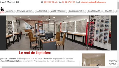 Site internet de Mirecourt Optique