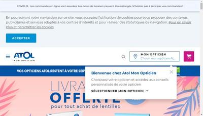 Site internet de Atol Jourdier Opticiens