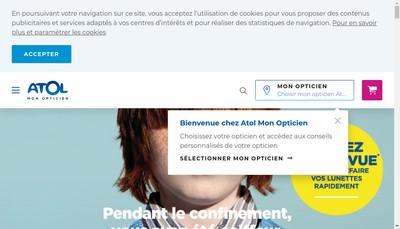 Site internet de Atol Opticiens