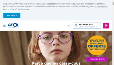 Site internet de Optique Barbera-Atol