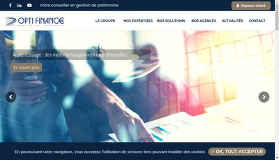 Site internet de Opti Finance