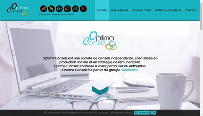 Site internet de Optima Conseil
