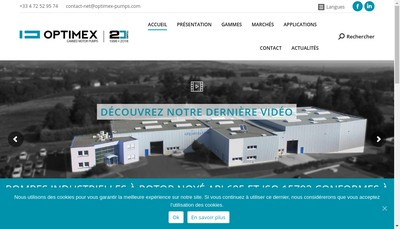 Site internet de Optimex