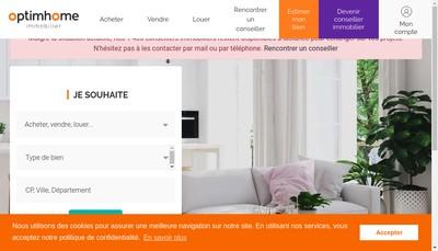 Site internet de Optim Immobilier