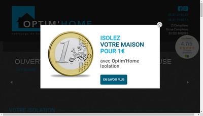 Site internet de OPTIM'HOME ISOLATION