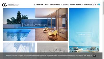 Site internet de Optimis Group Ou Optimis Immobilier