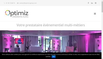 Site internet de Optimiz Group