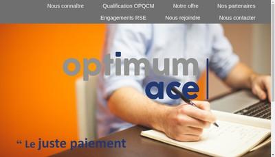 Site internet de Optimum Ace