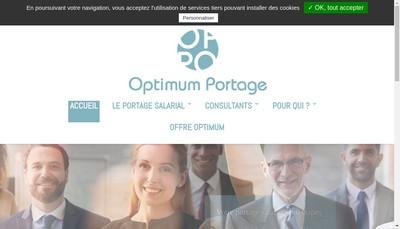 Site internet de Optimum Portage