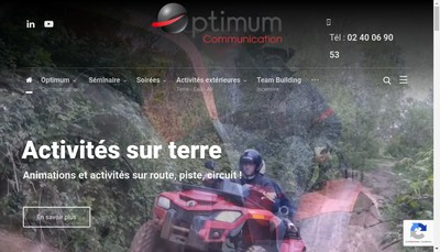 Site internet de Optimum Communication
