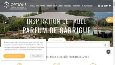 Site internet de Options Centre Est
