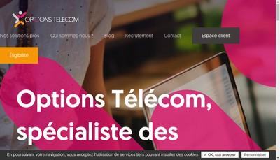 Site internet de Options Telecom