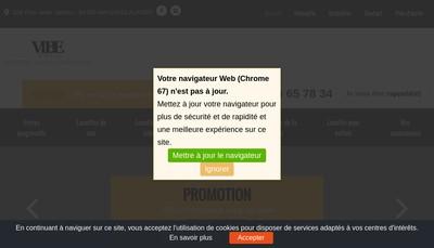 Site internet de Vibeoptic