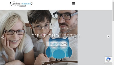 Site internet de Optique et Audition du Saintois