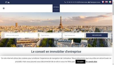 Site internet de Optireal