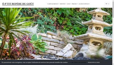 Site internet de O P'Tit Repere du Gout