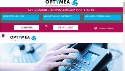 Site internet de Optymea