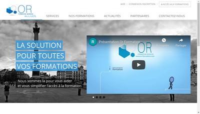 Site internet de Or Formation Services