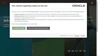 Site internet de Oracle France