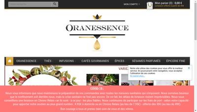 Site internet de Oranessence