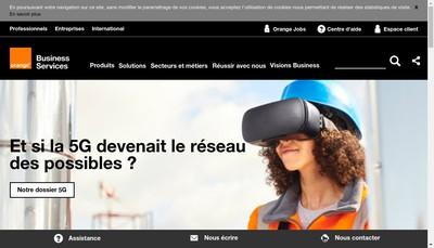 Site internet de Orange Business Services Participations