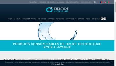 Site internet de Argos - Orapi Hygiene