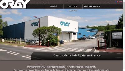 Site internet de Societe Oray