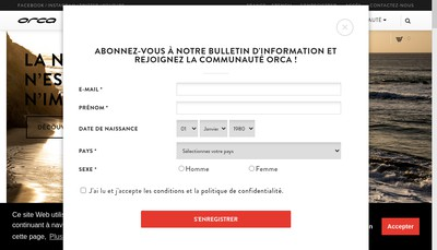 Site internet de EURL Orca