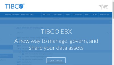 Site internet de Tibco Orchestra Networks