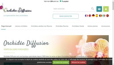 Site internet de Orchidee-Diffusion