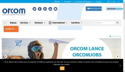 Site internet de Orcom
