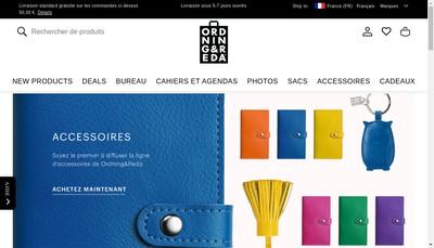 Site internet de Bookbinders Design