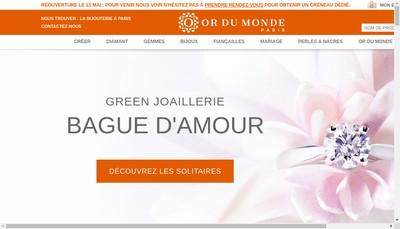 Site internet de Or du Monde