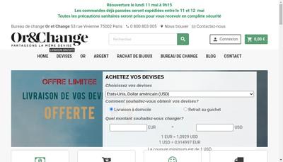 Site internet de Societe d'Exploitation Or et Change