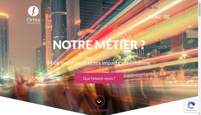 Site internet de Orfea Acoustique Developpement