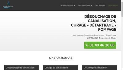 Site internet de Barteau Assainissement