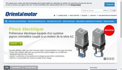 Site internet de Oriental Motor (France)