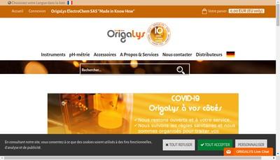 Site internet de Origalys